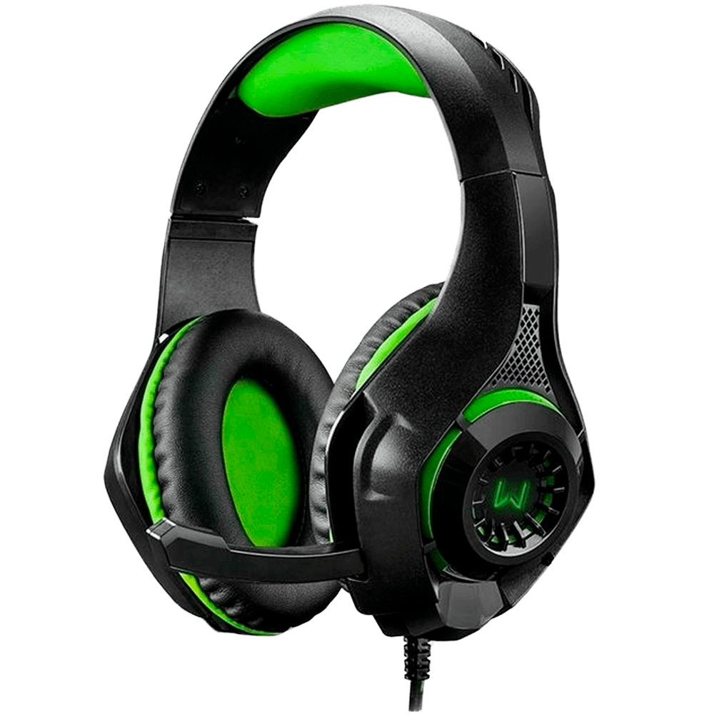 Headset Gamer Warrior PH299 Rama P3USB Stereo Adaptador P2 Led Verde