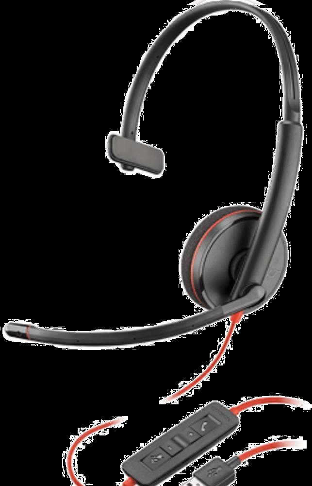 Headset Plantronics Blackwire C3210 Conexão Usb - 209744-101