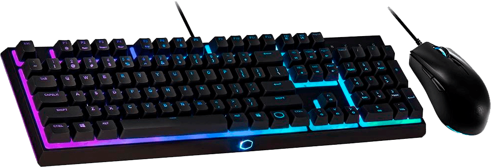 Kit Gamer Cooler Master MS111 - Teclado RGB, ABNT + Mouse RGB - MS111-KKMF1-BR