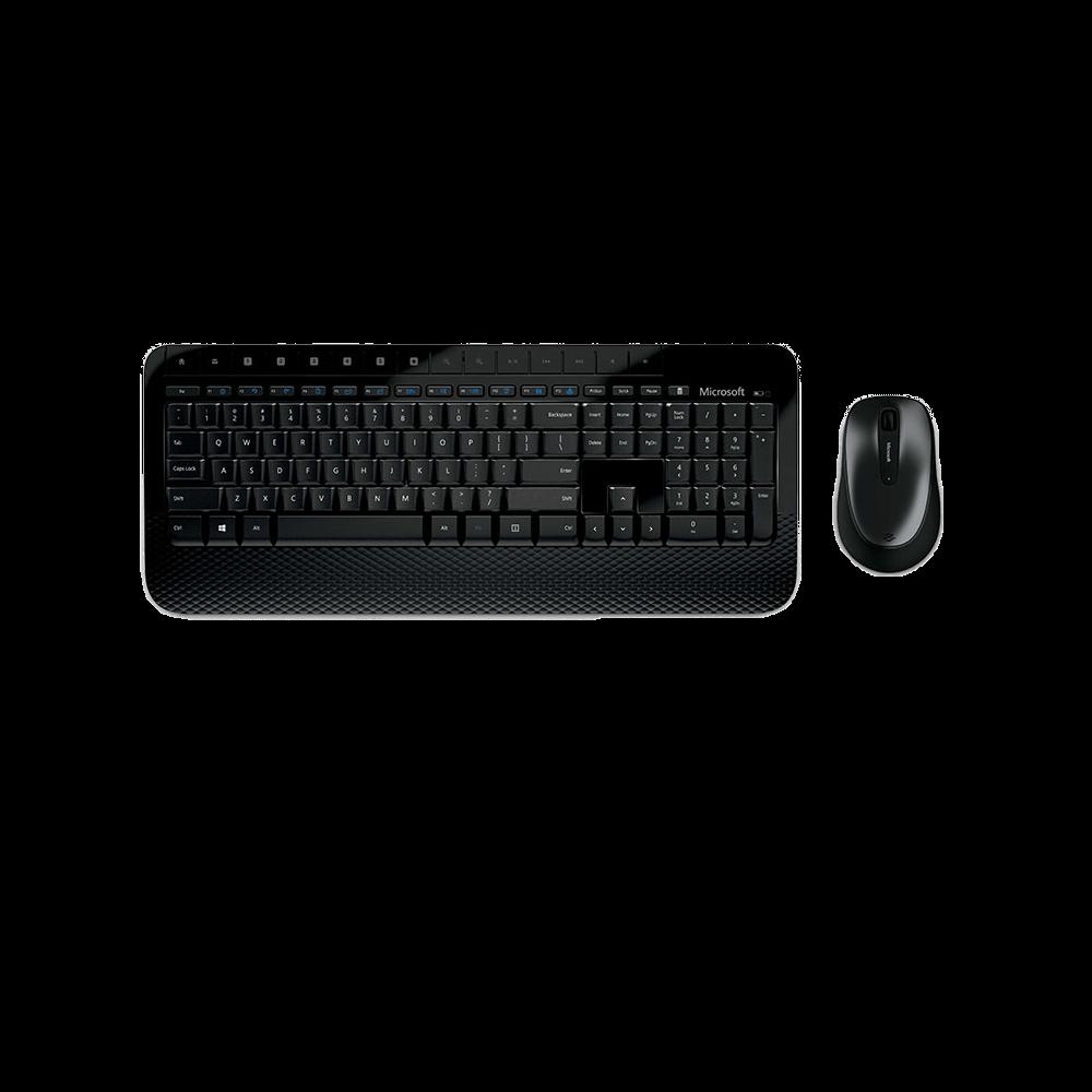 Kit Teclado e Mouse Microsoft Wireless Desktop 2000 Preto - M7J-00021