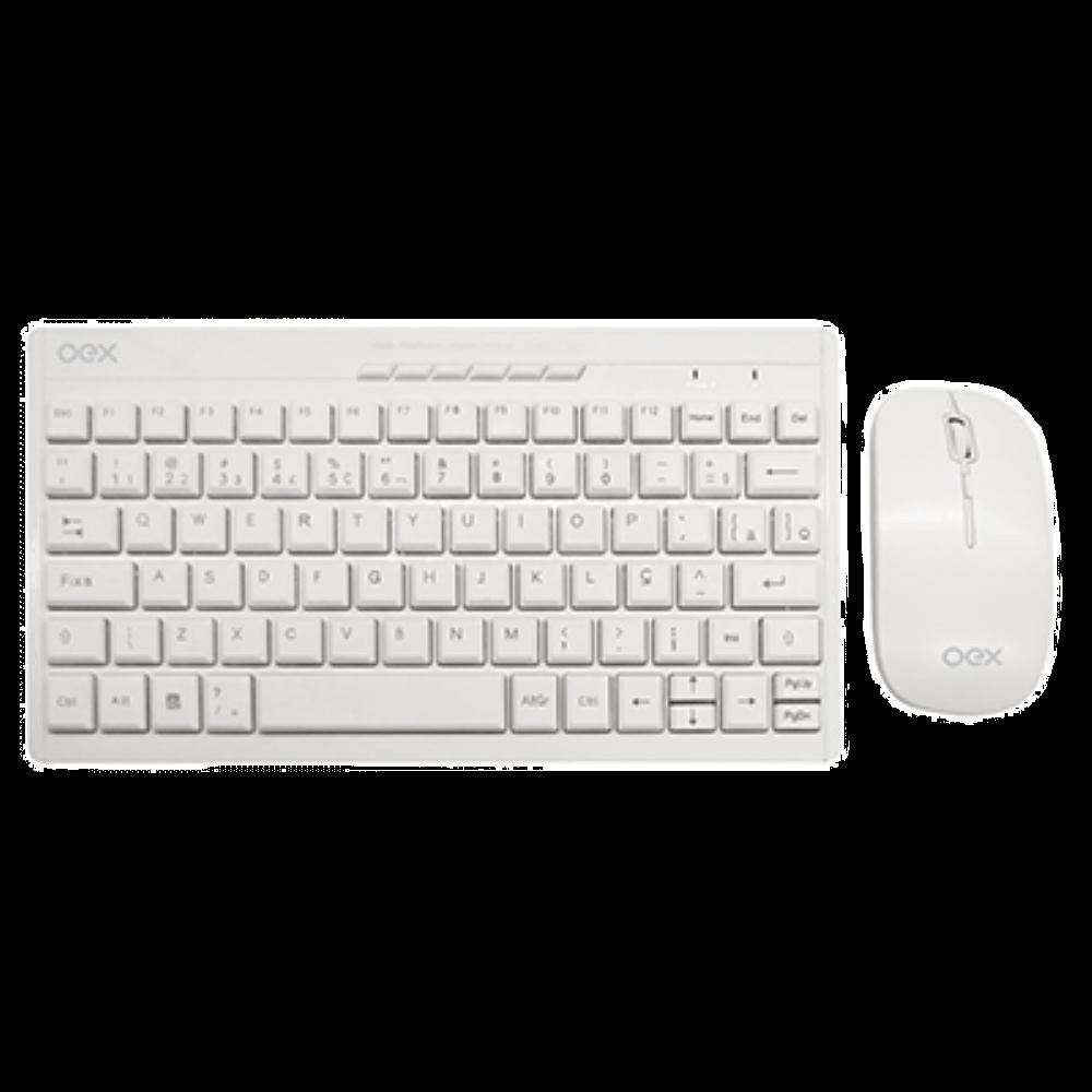 Kit Teclado e Mouse Oex Winter Wireless Branco - TM-403