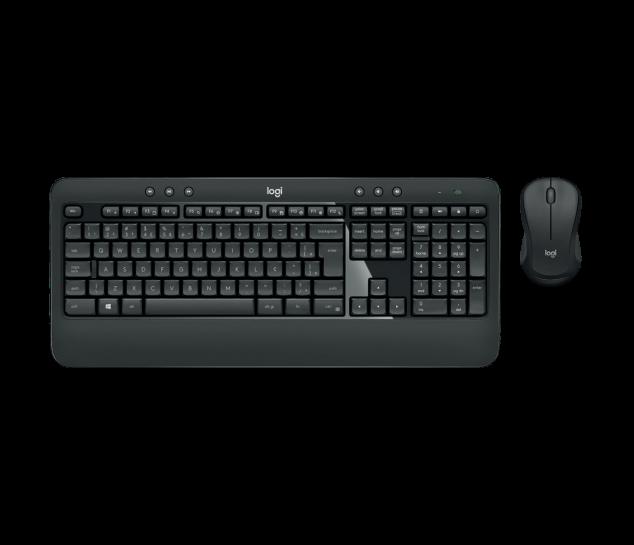 Kit Teclado e Mouse Sem Fio Logitech Advanced - MK540