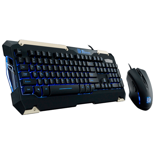 Kit Teclado e Mouse Thermaltake Commander COMBO KB-CMC-PLBLPB-01