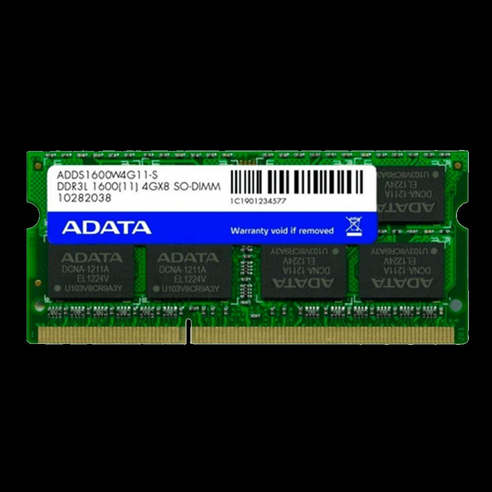 Memória Adata 1600 SO-DIMM 4GB, 1600MHz, DDR3, CL11 - ADDS1600W4G11-S