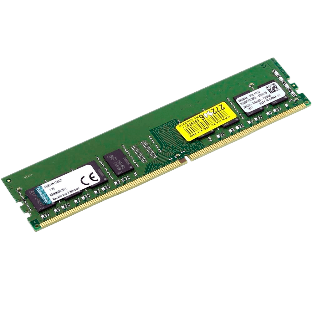 Memória Kingston 8GB, 2400MHz, DDR4, CL17 - KVR24N17S8/8