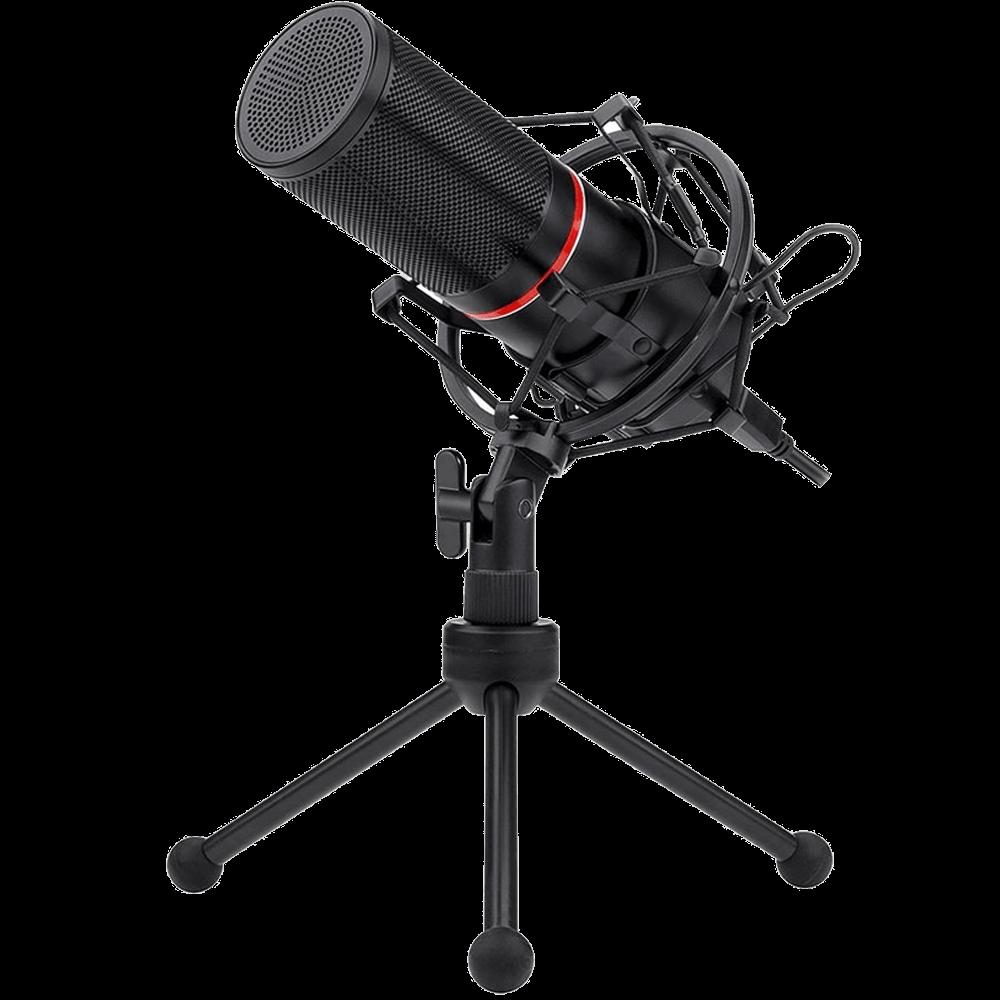 Microfone Condensador Redragon Blazar GM300, USB, Cabo 1,7m, Preto