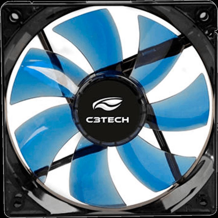Microventilador Cooler Fan 120 X 120 X 25 (conector Placa E Fonte) F7-l100bl C/ Led Azul