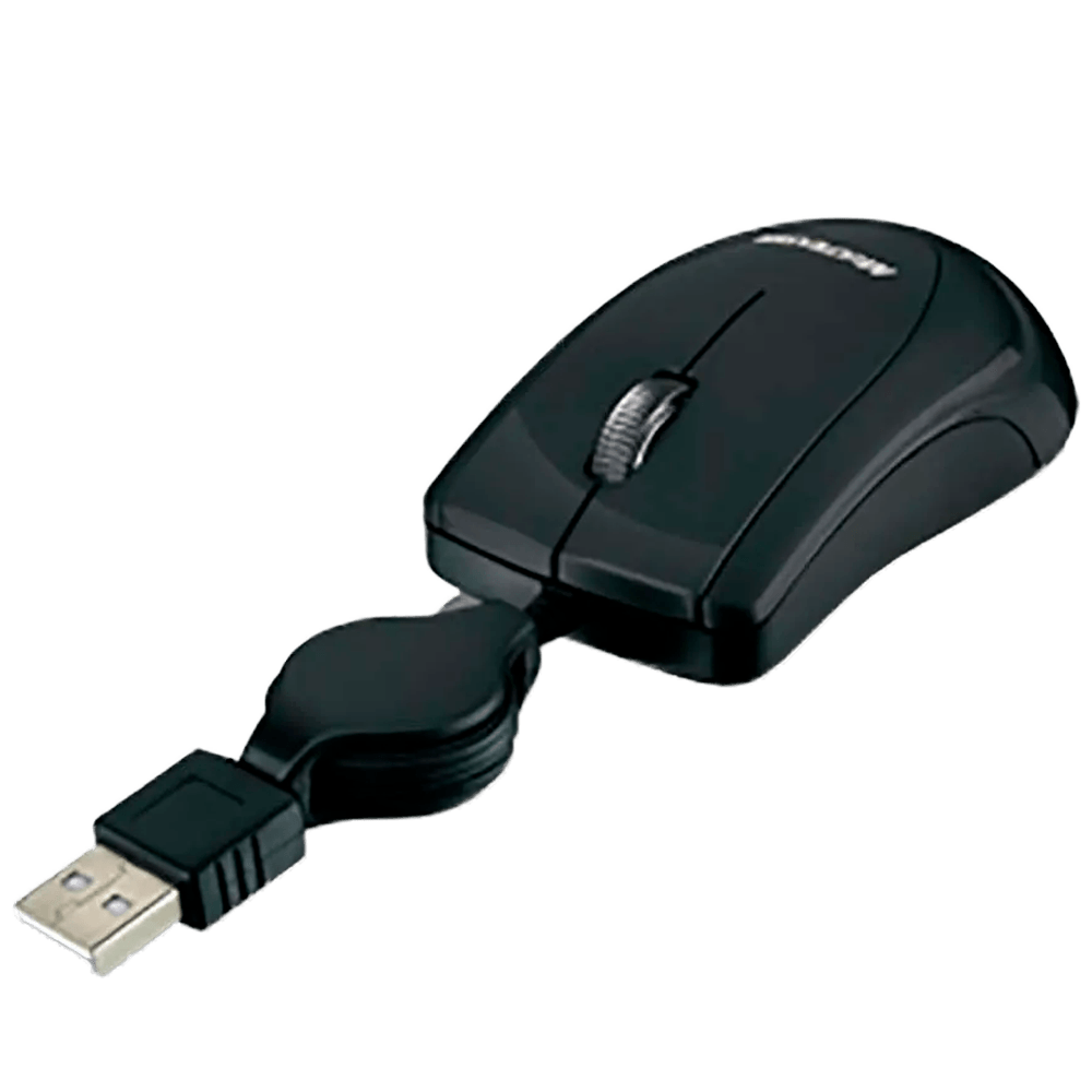 Mini Mouse Multilaser Usb Retrátil Preto - MO159