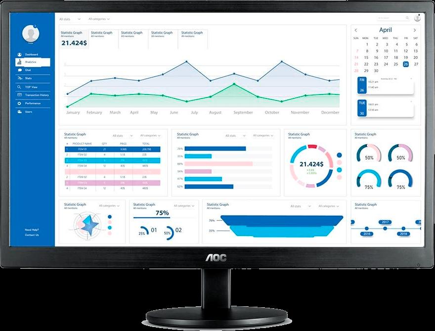 Monitor AOC LED 23.6, FULL HD, Altura Ajustável - M2470SWH2
