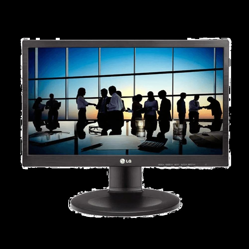 Monitor LG 19.5´ com Ajuste de Altura DVI Black Piano - 20M35PD-M