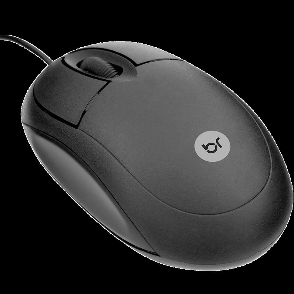 Mouse óptico Bright usb Espanha preto - 0106