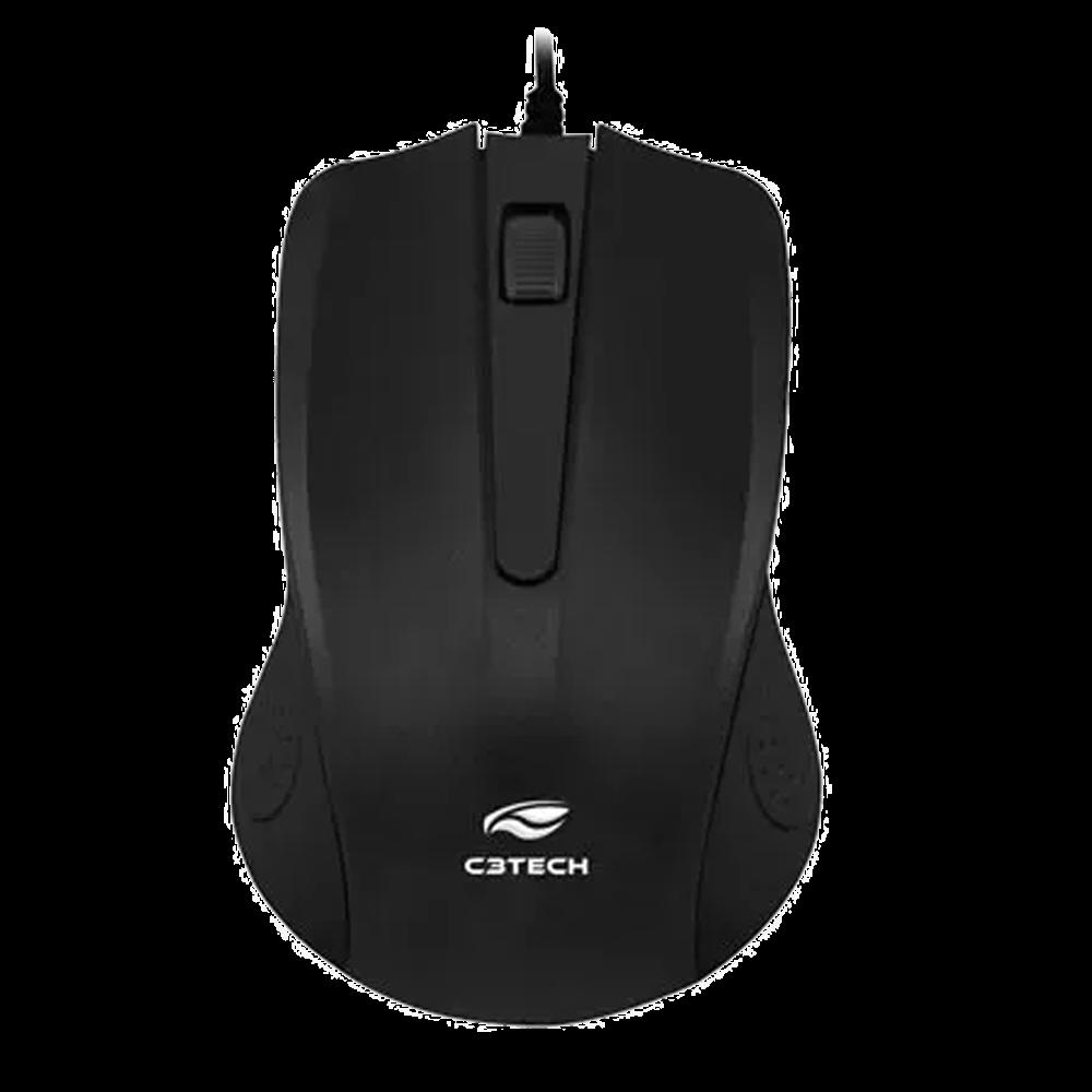 Mouse C3 Tech USB Preto - MS-20BK