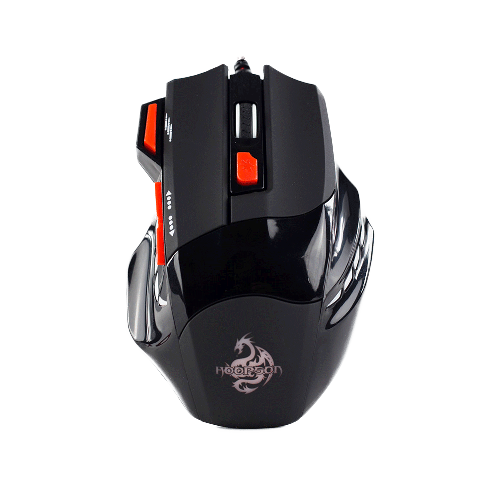 Mouse Gamer Hoopson 7 Botoes - Preto - Gx 350