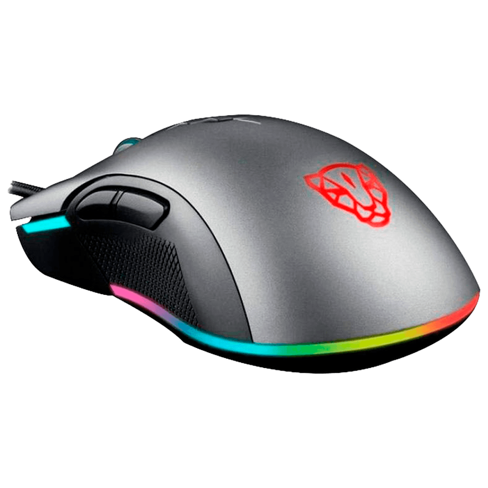 Mouse Gamer Motospeed V70 Essential Edition, RGB, 7 Botões, 5000DPI, Cinza - FMSMS0071CIZ