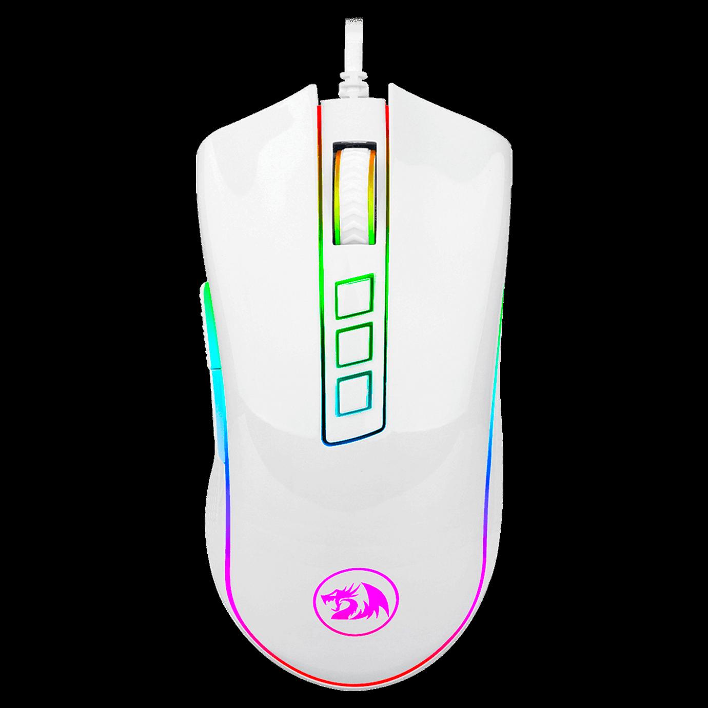 Mouse Gamer Redragon Cobra, 10000DPI, Chroma, Branco - M711