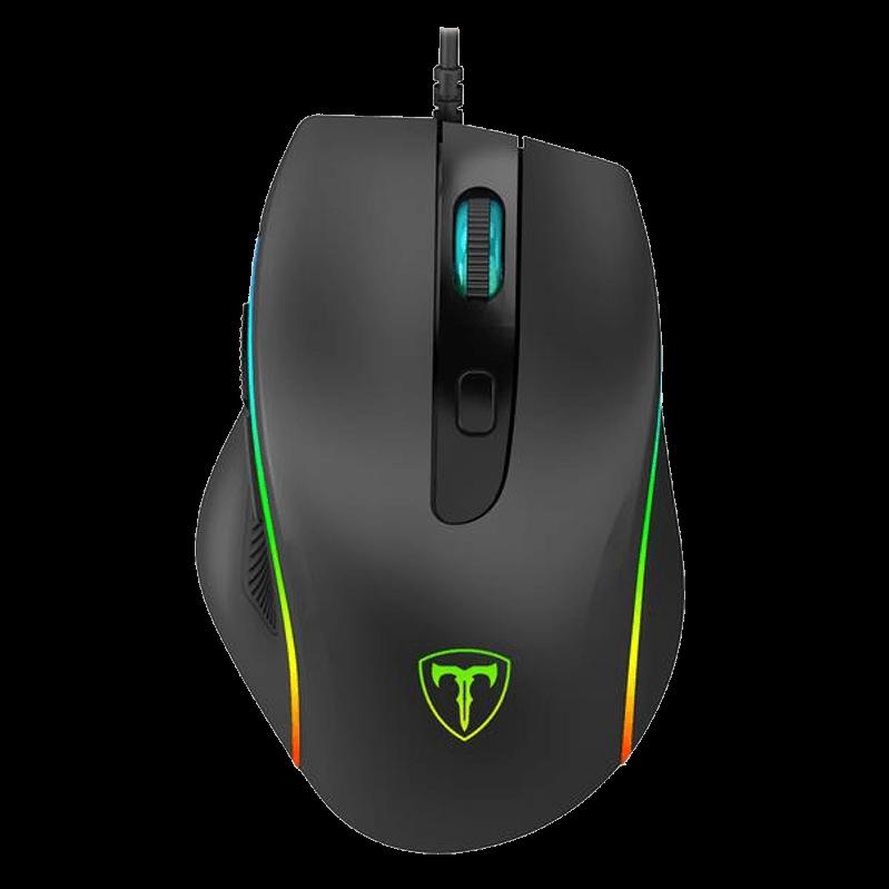 Mouse Gamer T-Dagger Recruit 2, RGB 3200 DPI, 6 Botões, Black, T-TGM108