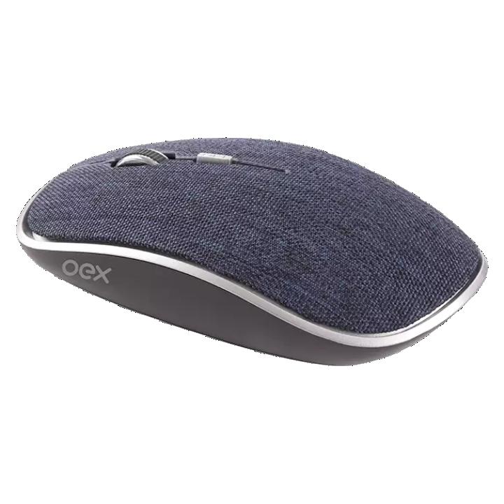 Mouse Óptico Oex Twill, Bluetooh + Wireless, 1600dpi - MS600 Azul