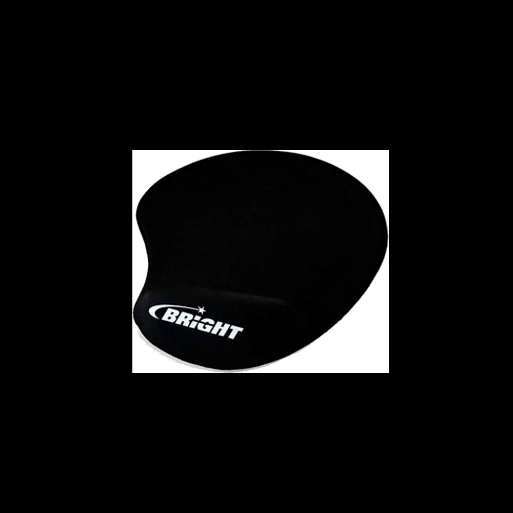 Mouse Pad Bright Ergonômico Com Apoio em Gel Preto - 0307