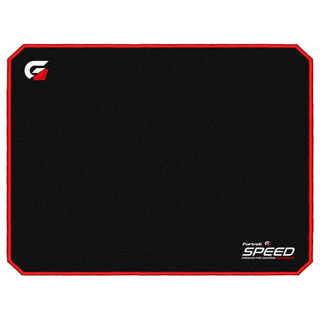 Mousepad Gamer Fortrek Speed MPG101, Médio (320X240mm), Preto/Vermelho - 72692