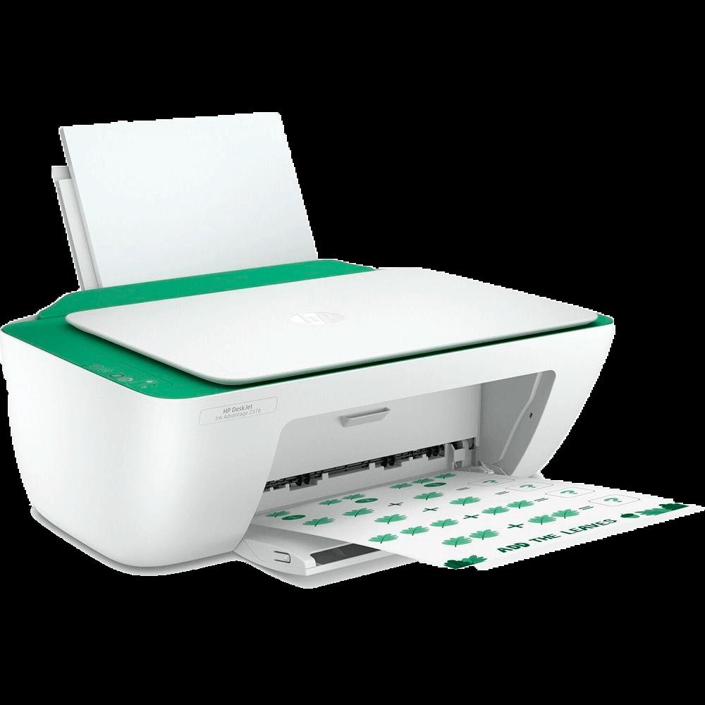 Multifuncional HP Deskjet Ink Advantage 2376 Verde e Branco Jato de tinta, USB