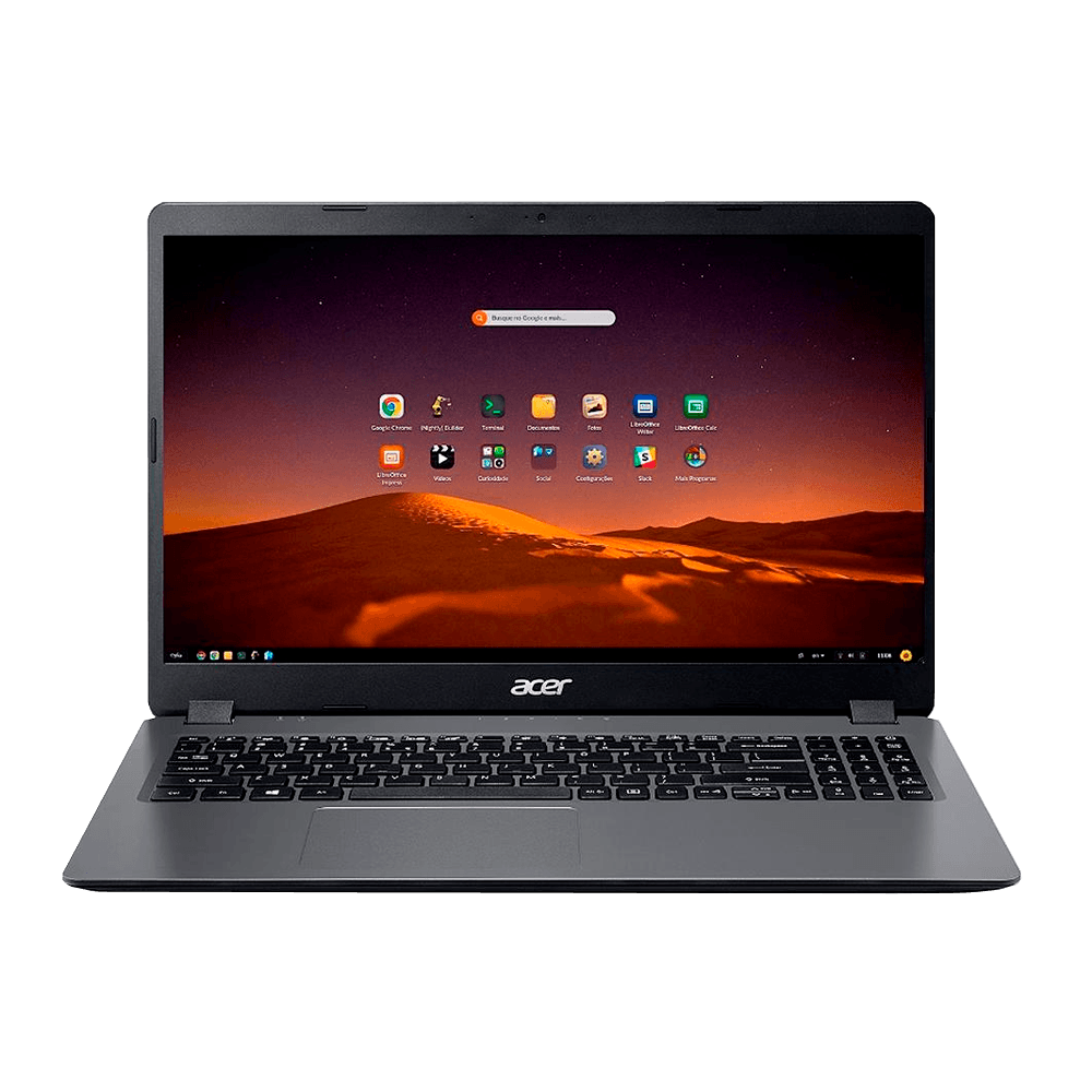 Notebook Acer Aspire 3 Intel Core i5-1035G1, 4GB, SSD 480GB, Endless OS, 15.6', Gray - A315-56-56-480