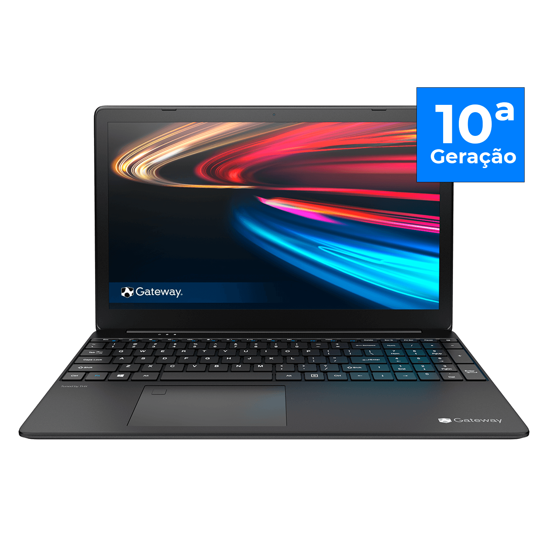 Notebook Gateway Intel Core i5-1035G1, 16GB, 256GB SSD, 15.6´ FHD 1920x1080, Windows 10, Preto - GWTN156-1BL