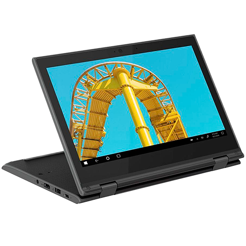 Notebook Lenovo 2 em 1 Intel 2.4GHz Quad-Core 4GB RAM 64GB SSD Windows 10 Pro Tela 11.6
