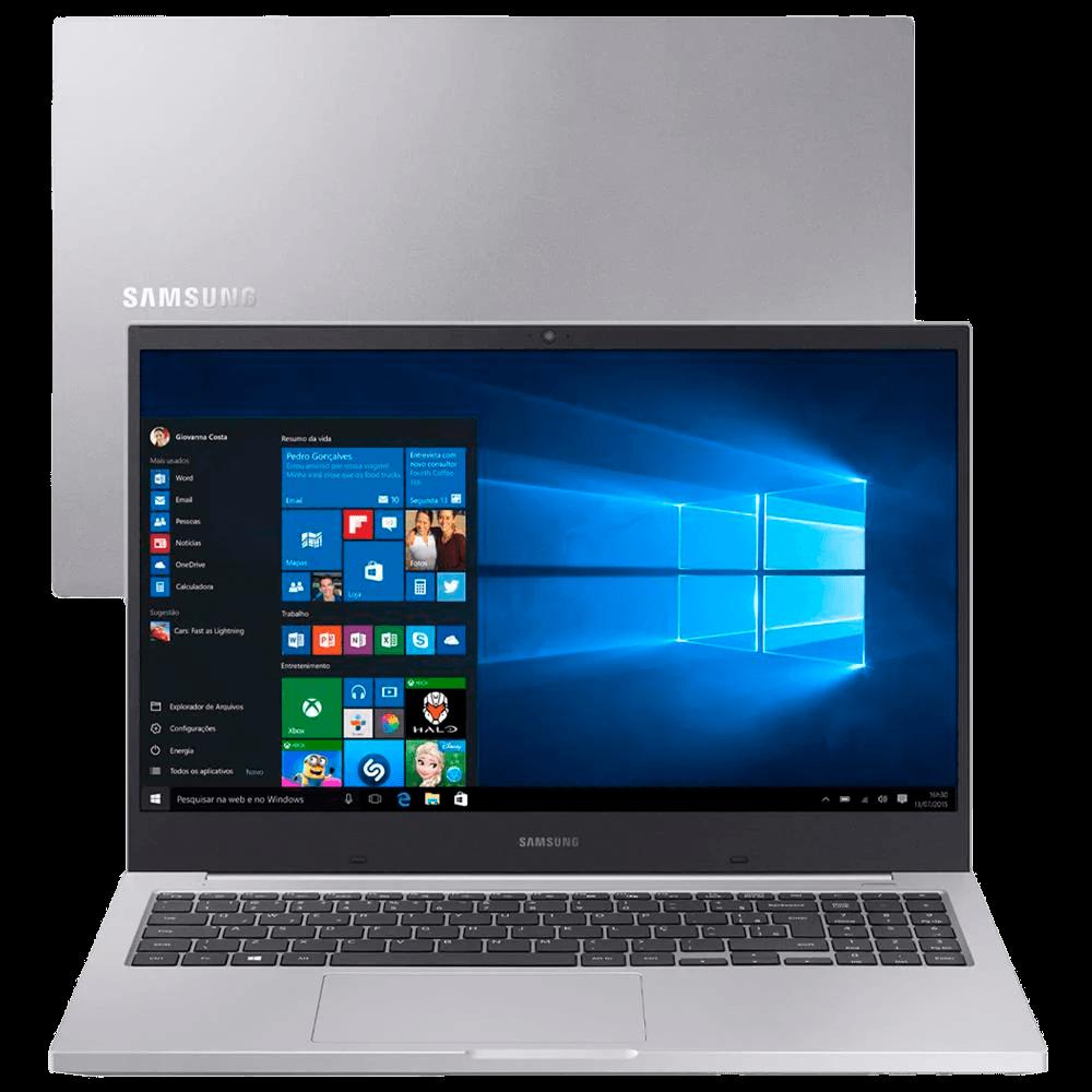 Notebook Samsung Book X20 Intel Core i5-10210U 10ª Geração 4GB 1TB 15.6'' Windows 10 Home NP550XCJ-KF0BR - Prata