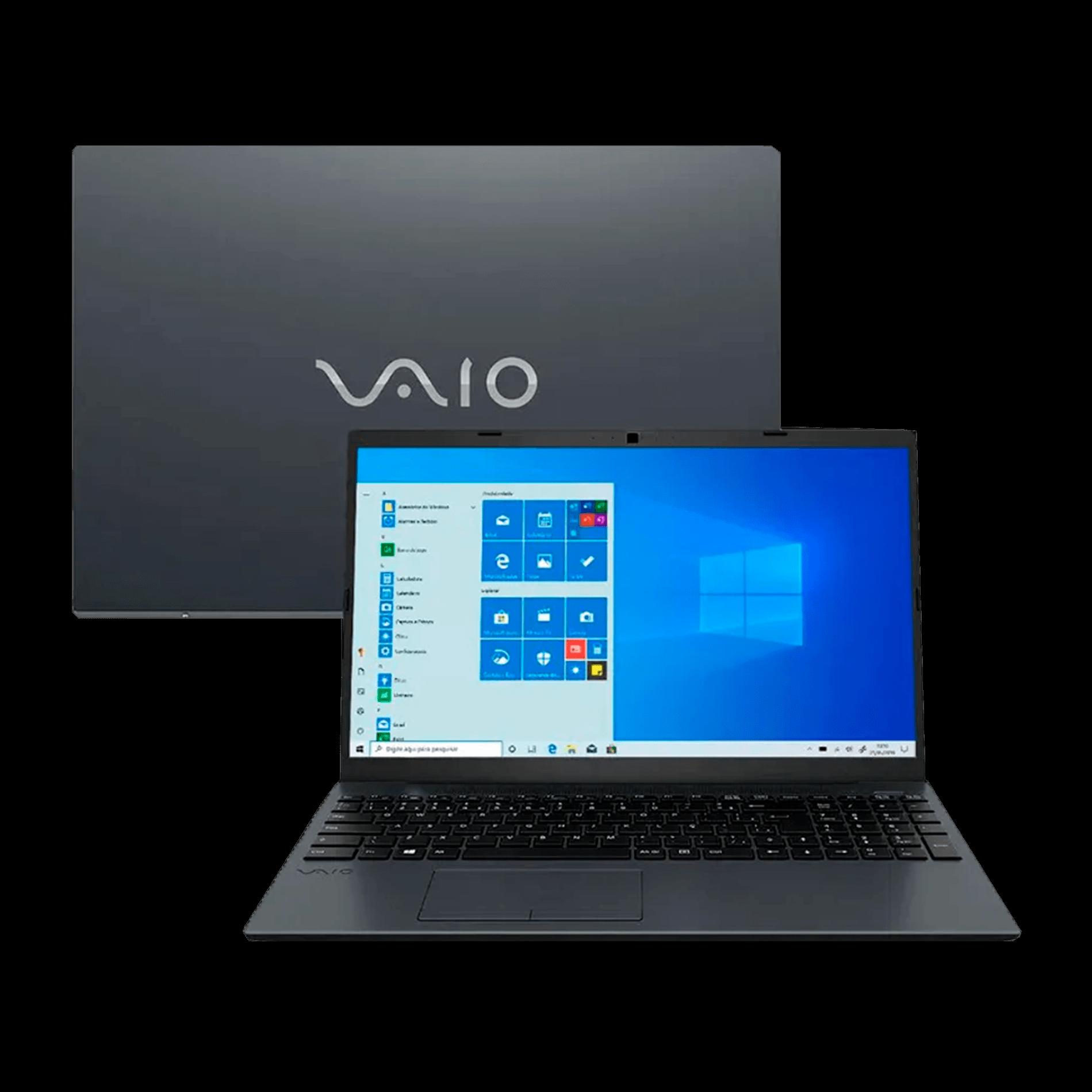 Notebook Vaio FE15, Core i7 10ª geração, 8GB, SSD 120GB + 1TB HD, Windows 10 Home, 15.6