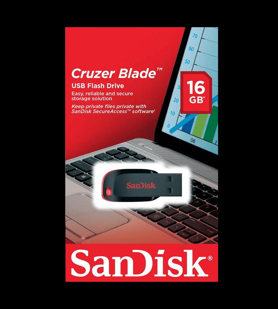 Pen Drive Cruzer Blade Sandisk USB 2.0 16GB - SDCZ50