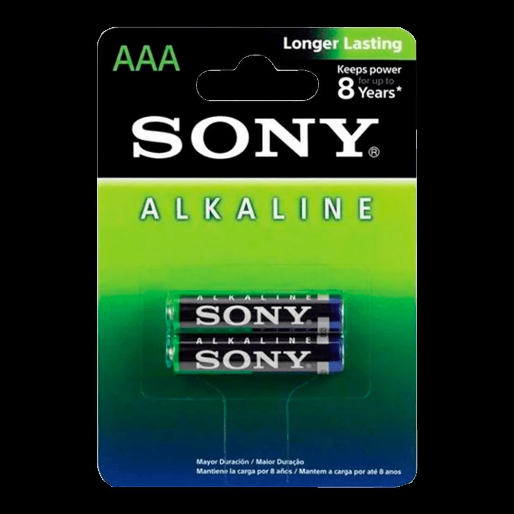 Pilha Alcalina Sony AAA, Pack com 2 - AM4L-B2D