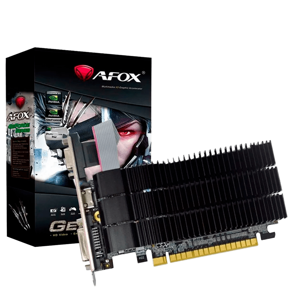Placa de Vídeo GeForce GT210, 1GB / DDR3/  64 Bits / Afox, AF210-1024D3L5
