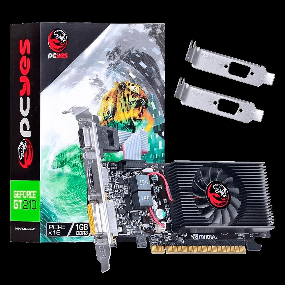 Placa de Vídeo GEFORCE NVIDIA GT 210 1GB DDR3 64 BITS Low Profile (Kit Incluso) - N21T1GD364LP