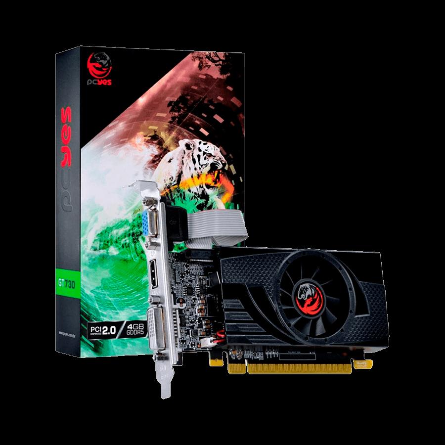 Placa de Vídeo PCYes GT 730, 4GB, GDDR5 - PA7304DR564LP