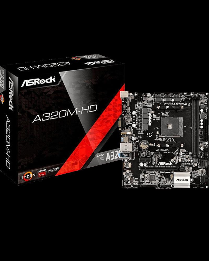 Placa-Mãe ASRock p/ AMD AM4 DDR4 - A320M-HD