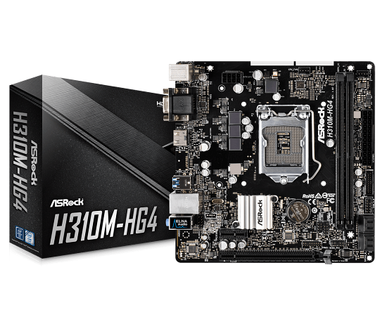 Placa-Mãe ASRock p/ Intel LGA 1151 mATX 2xDDR4 - H310M-HG4