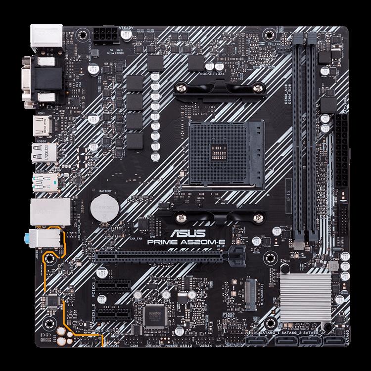 Placa-Mãe Asus Prime A520M-E, AMD AM4, mATX, DDR4