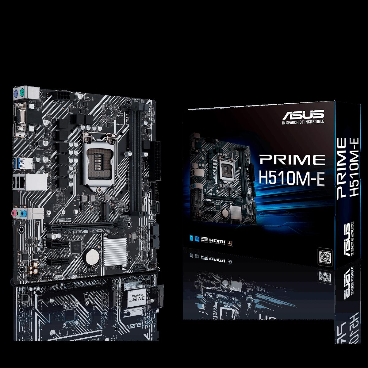 PLACA MAE ASUS PRIME H510M-E DDR4 LGA1200 INTEL H510, PRIME H510M-E