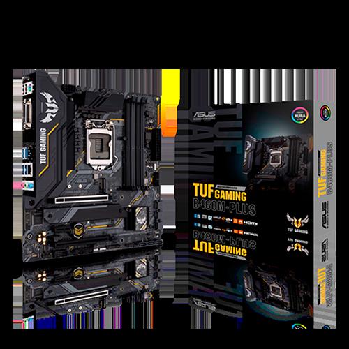 Placa Mãe Asus TUF Gaming B460M-Plus Intel LGA 1200 mATX DDR4 90MB1450-C1BAY0