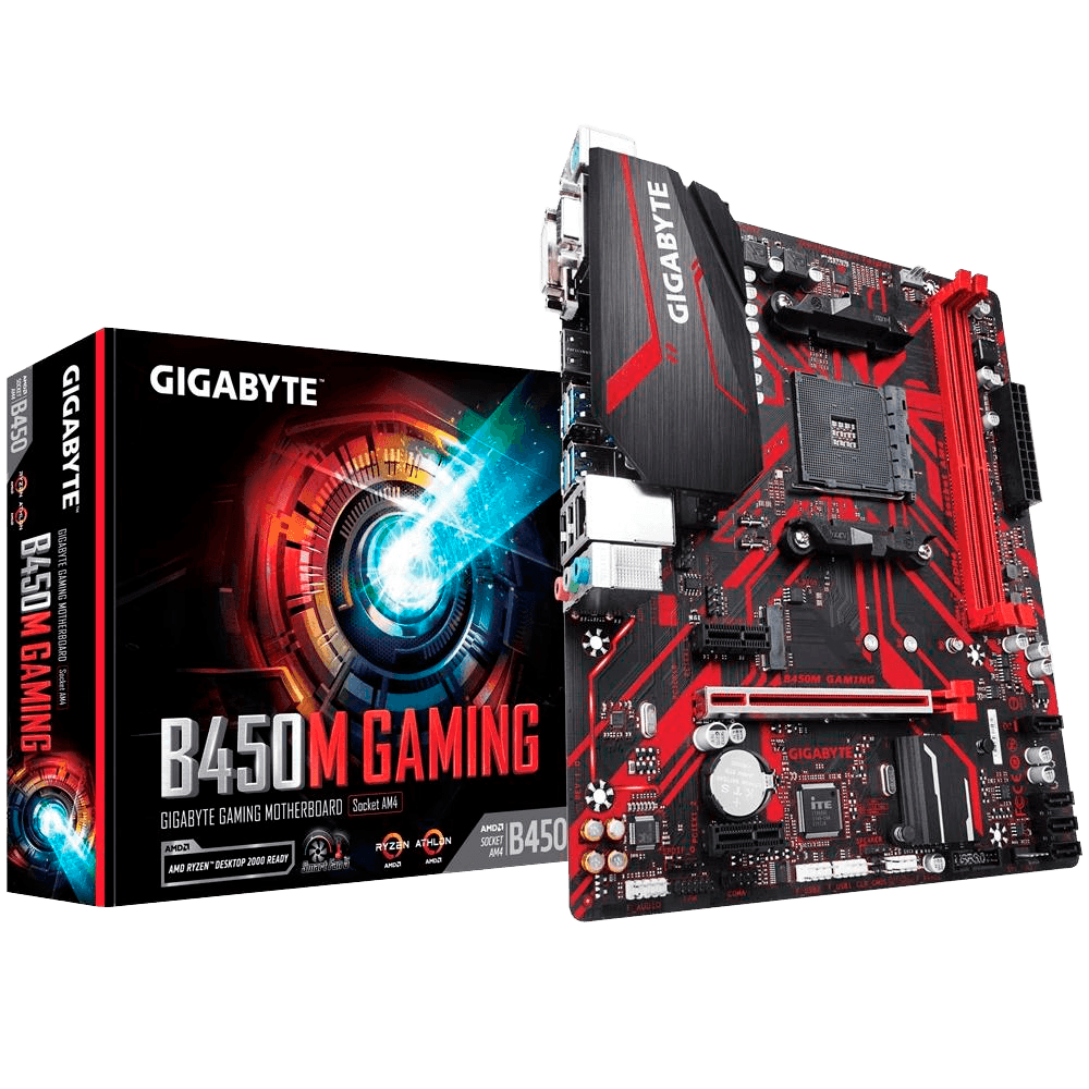 Placa Mãe Gigabyte B450M Gaming, AMD AM4, mATX, DDR4 (Rev. 1.0)