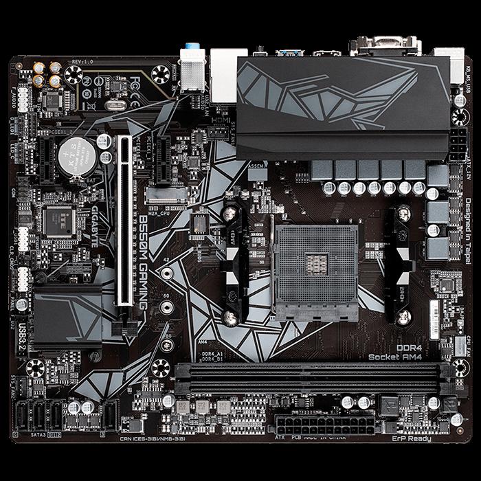 Placa-Mãe Gigabyte B550M Gaming, AMD AM4, Micro ATX, DDR4