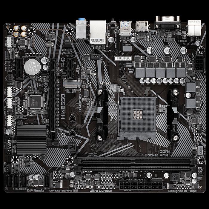 Placa-Mãe Gigabyte B550M H, AMD AM4, Micro ATX, DDR4