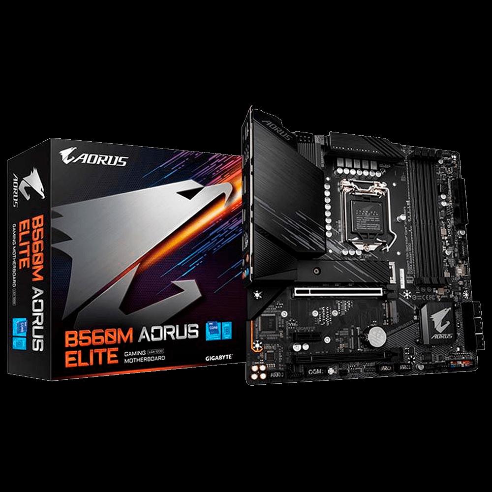 Placa Mae Gigabyte B560M Aorus Elite DDR4 Socket LGA1200 Chipset Intel B560