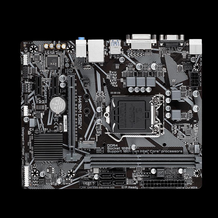 Placa-Mãe Gigabyte H410M DS2V, Intel LGA1200, Micro ATX, DDR4