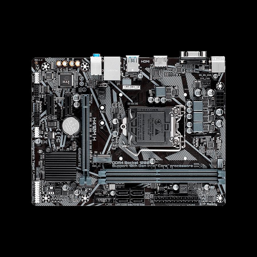 Placa Mãe Gigabyte H410M H V2, Intel LGA1200, Micro ATX, DDR4