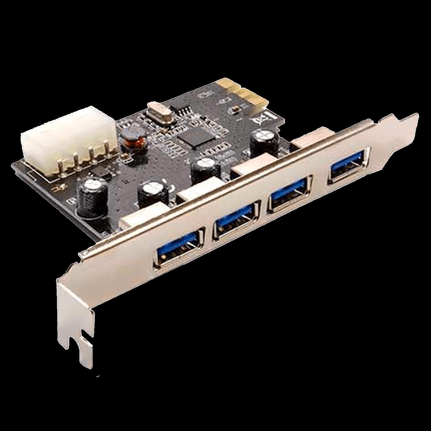 PLACA PCI EXPRESS DEX 4 PORTAS USB 3.0 DE 5GBPS, DP-43