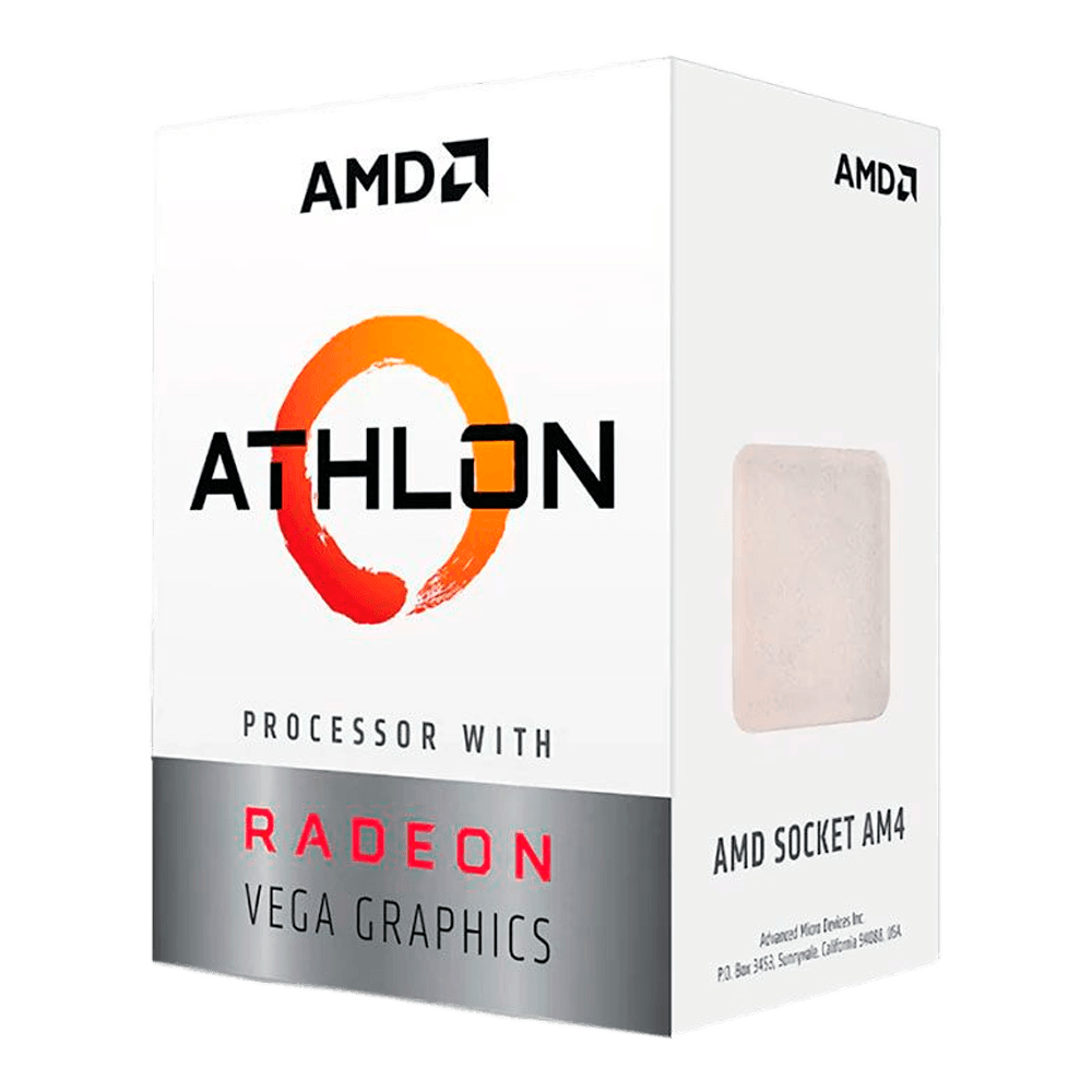 Processador AMD Athlon 3000G Dual-Core 3.5GHz 5MB Cache AM4, YD3000C6FHBOX