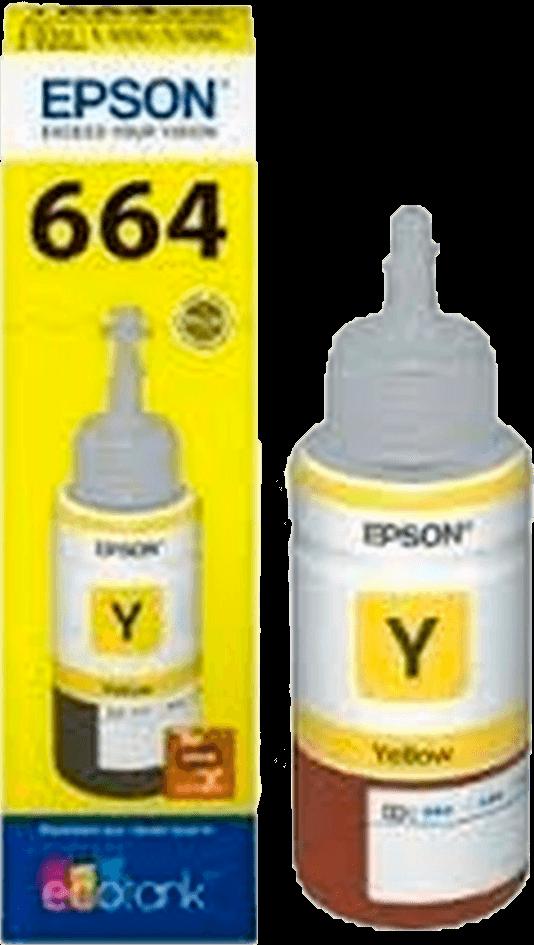Refil De Tinta Original Epson T664420 Yellow 664 L355 L365 L200 L110 L555 L395 L396 L380 70ML