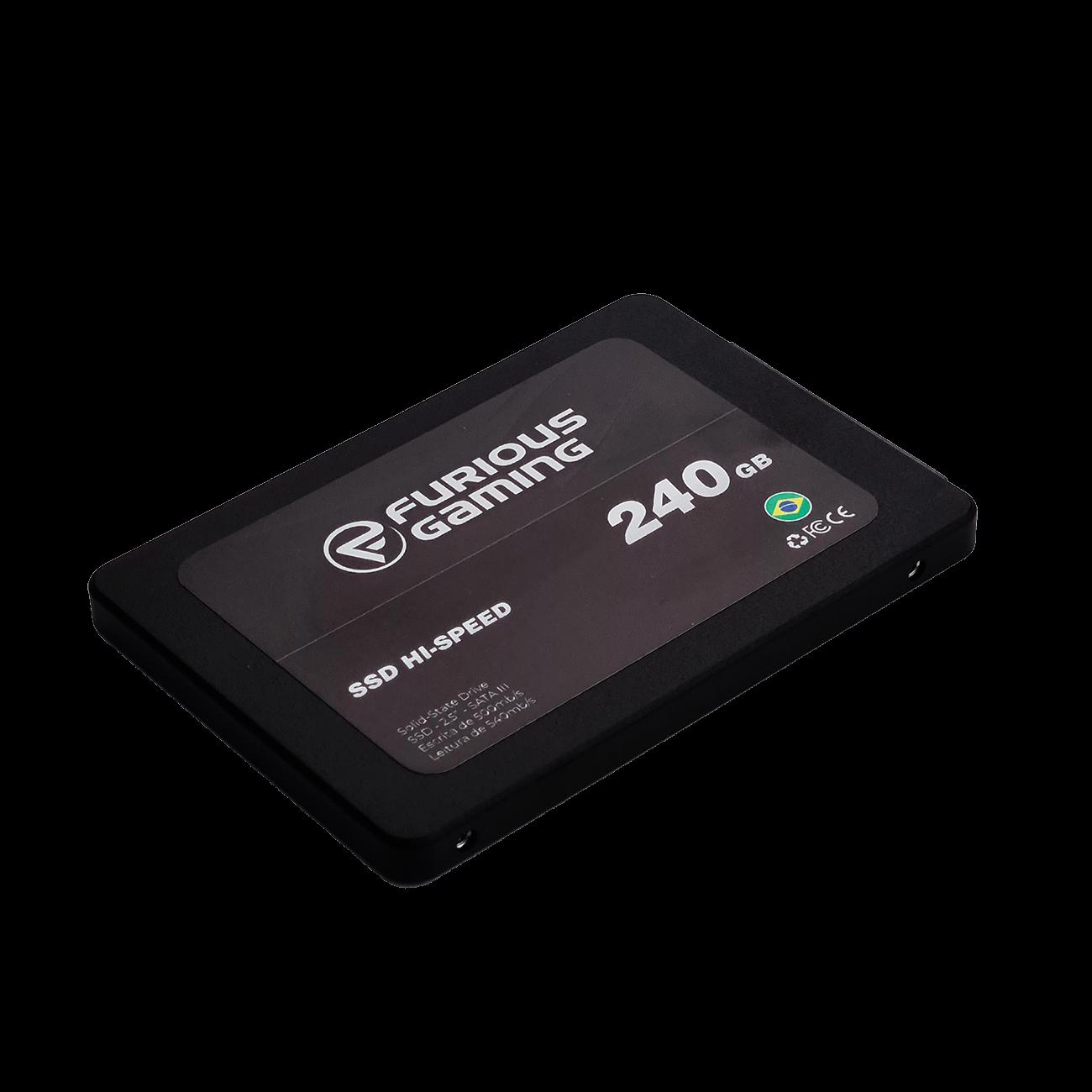 SSD Furious FRGM, 240GB, Sata III, Leitura 540MBs e Gravação 500MBs, FRGM-240-SSD - OEM