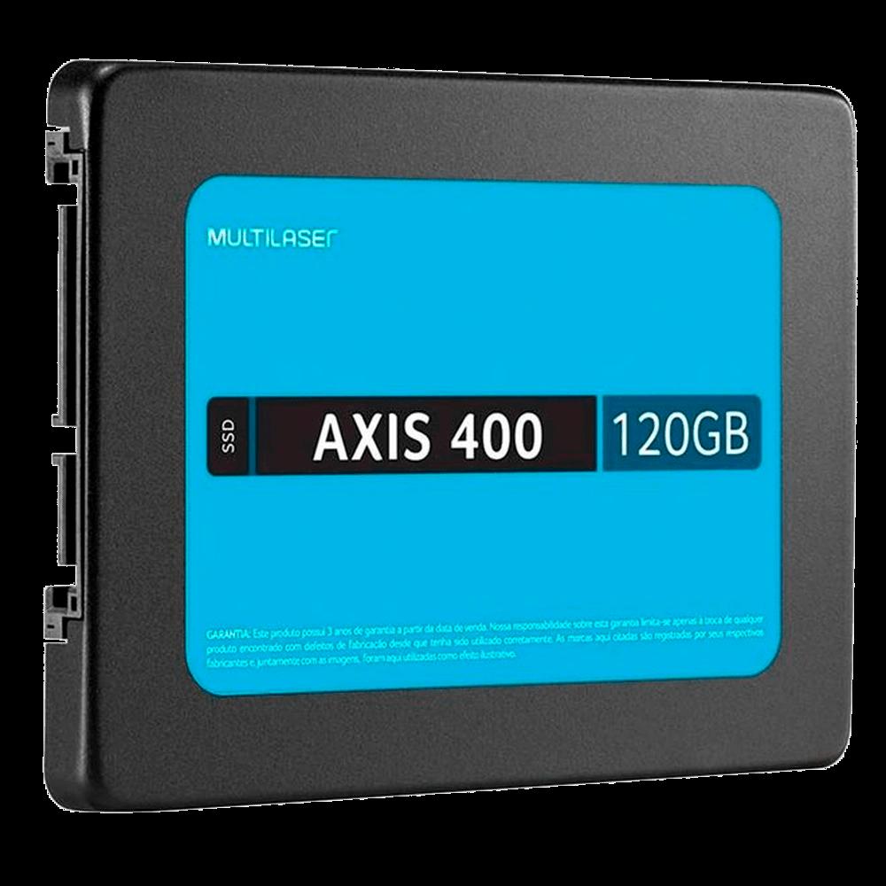 SSD Multilaser SS101BU Axis 400 Mb/S 2,5P 120GB Preto